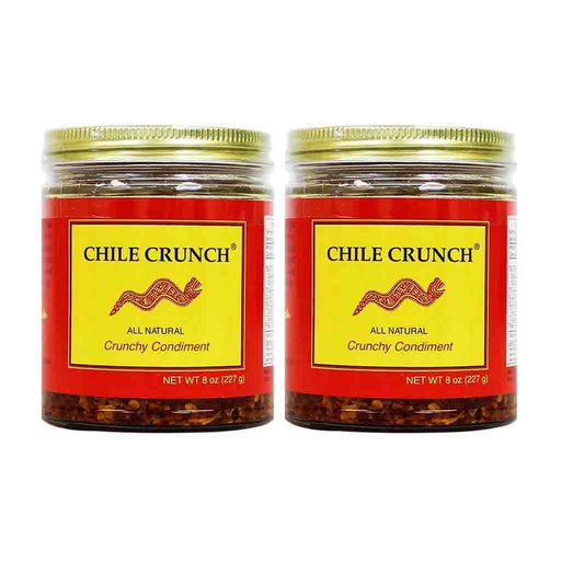 2 Pack Chile Crunch Natural Crunchy Condiment (Original), 8oz (227g)