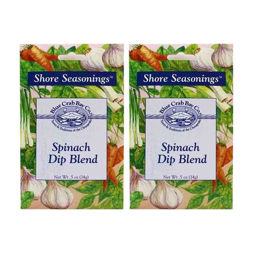 2 Pack Blue Crab Bay Co. Spinach Dip Blend .5 oz. (14 g)