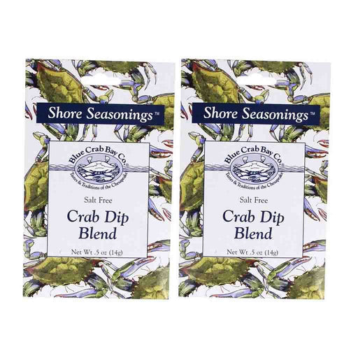 2 Pack Crab Dip Blend by Blue Crab Bay Company 0.5 oz