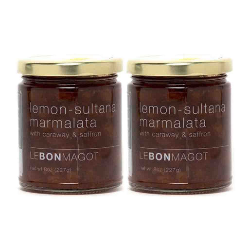 2 Pack Lemon Sultana Marmalata by Le Bon Magot, 8 oz (227 g)