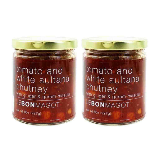 2 Pack Tomato and White Sultana Chutney by Le Bon Magot , 8 oz (227 g)