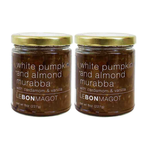 2 Pack White Pumpkin and Almond Muraba by Le Bon Magot , 8 oz (227 g)