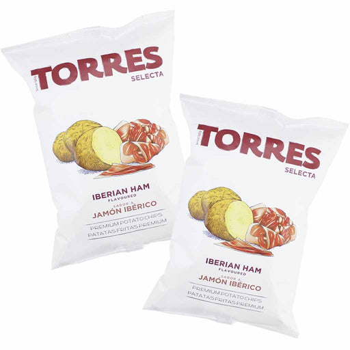 Torres Iberico Ham Potato Chips, 6 Pack (5.2 oz. x 6)