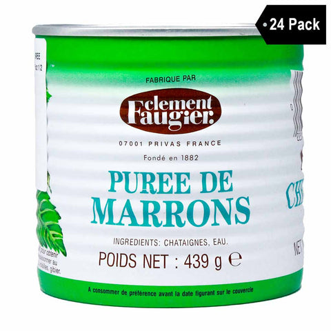Clement Faugier Unsweetened French Chestnut Marrons Puree (15.5 oz. x 24)
