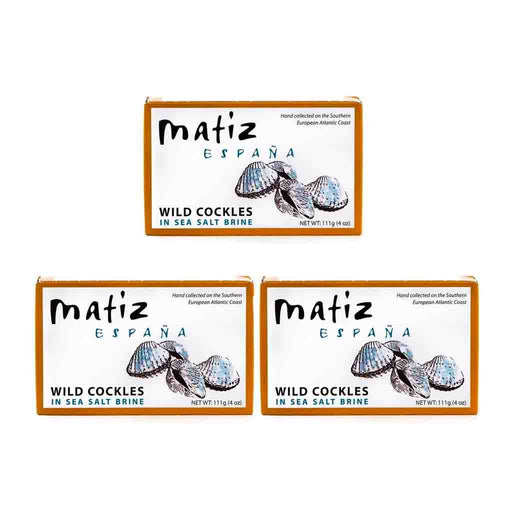 FREE SHIPPING|3 pack Matiz Wild Cockles in Sea Salt Brine, 4 oz 111 g