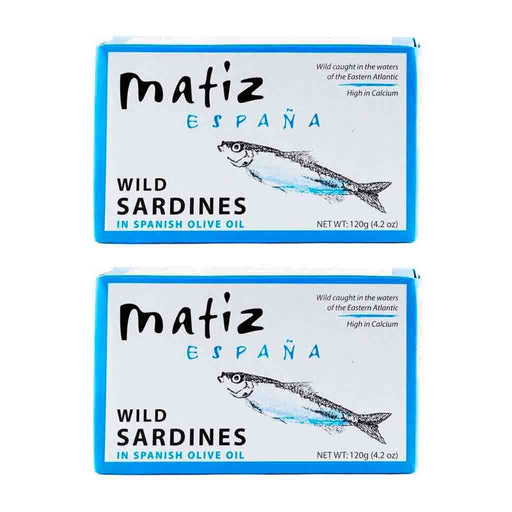 FREE SHIPPING|2 pack Matiz Wild Sardines in Spanish Olive Oil, 4.2 oz 120 g