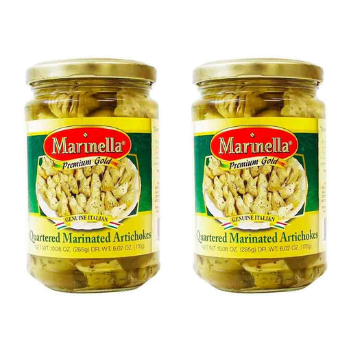 FREE SHIPPING|2 pack Marinella Quartered Marinated Italian Artichokes, 10 oz 285 g