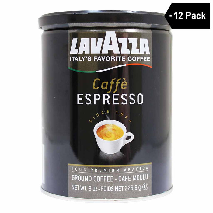 Lavazza Cafe Espresso Ground Coffee (8 oz. x 12)