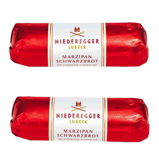 FREE SHIPPING | 2 Pack Niederegger Marzipan Loaf Schwarzbrot, 2.6 oz. (75g)