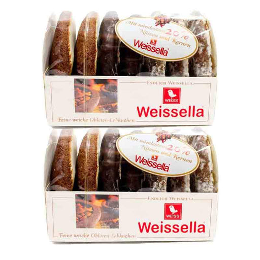 FREE SHIPPING | 2 Pack Weissella Assorted German Gingerbread Cookies, 7 oz (200 g)