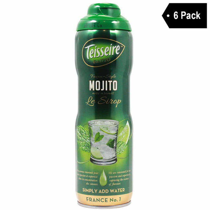Free Shipping | 6-Pack Teisseire French Mojito Syrup (20 oz. x 6)