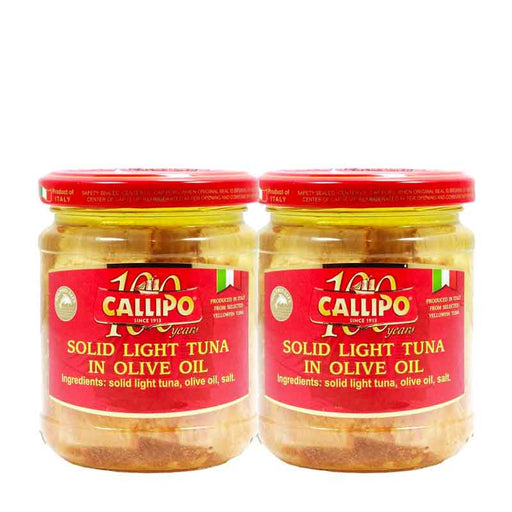 FREE SHIPPING | 2 PACK Callipo Solid Light Tuna in Olive Oil 6 oz