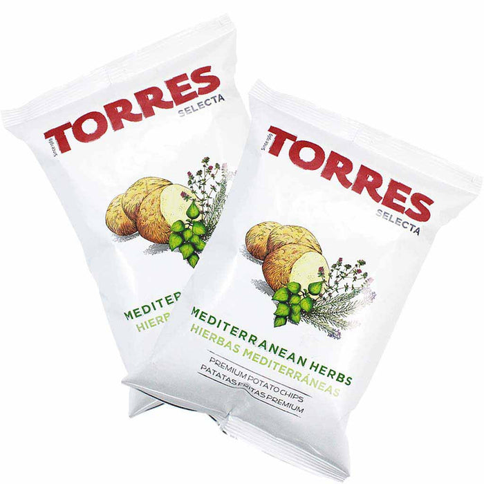 Torres Mediterranean Herb Potato Chips, 6 Pack (5.2 oz. x 6)