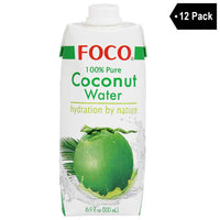 Free Shipping | 12 Pack Foco Coconut Water 16.9 fl. oz.