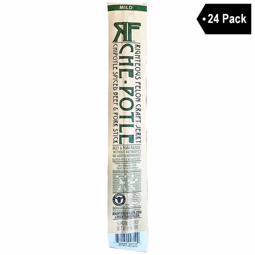 Righteous Felon Chipotle Spiced Beef & Pork Stick (1 oz. x 24)
