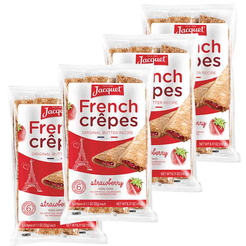 Jacquet Strawberry French Crepes 6 Crepes x 4 Packs