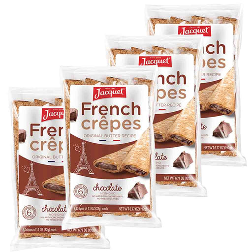 4-Pack Jacquet Chocolate French Crepes 6 Crepes x 4