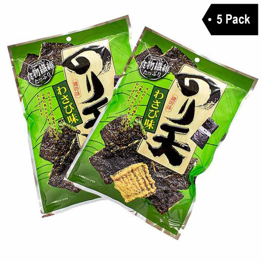 Daiko Noriten Wasabi Crackers with Seaweed 5 Pack