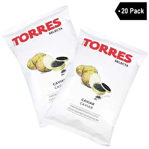 Small Bag Torres Caviar Potato Chips (1.4 oz. x 20)