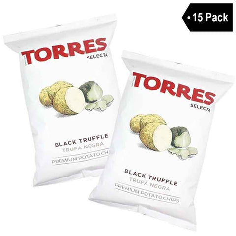 Large Bag Black Truffle Potato Chips by Torres (4.4 oz. x 15)