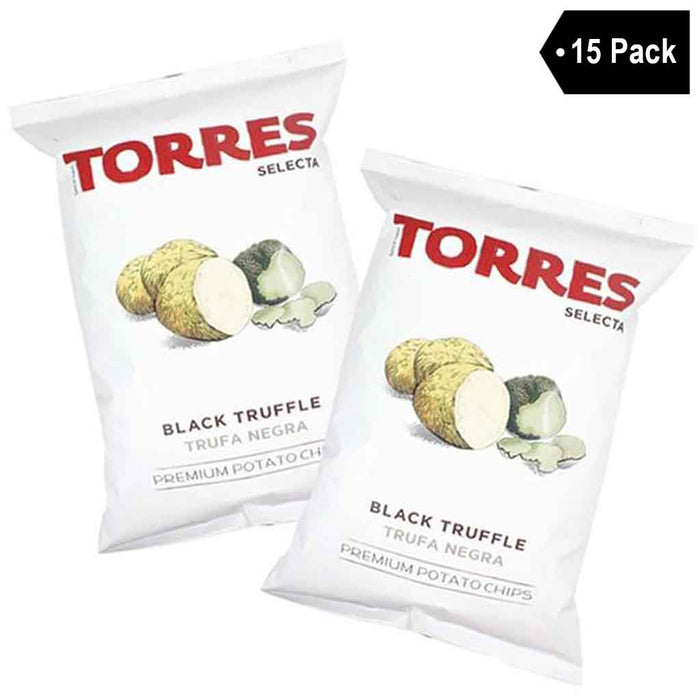 Free Shipping | 15-Pack Large Black Truffle Chips by Torres, 15 x 4.4 oz