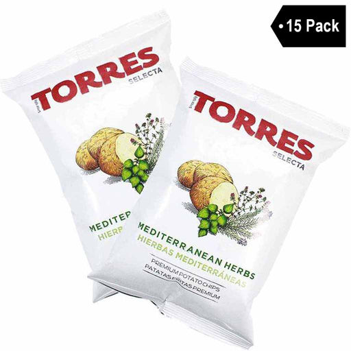 Large Bag Torres Mediterranean Herb Potato Chips (5.2 oz. x 15)