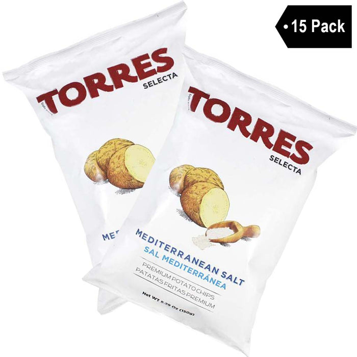 Large Bag Torres Mediterranean Salt Potato Chips (5.2 oz. x 15)