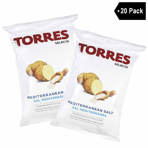 Torres Mediterranean Salt Potato Chips (1.7 oz. x 20)