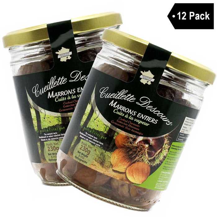 12 Pack Concept Fruits French Whole Roasted Chestnuts 8.1 oz