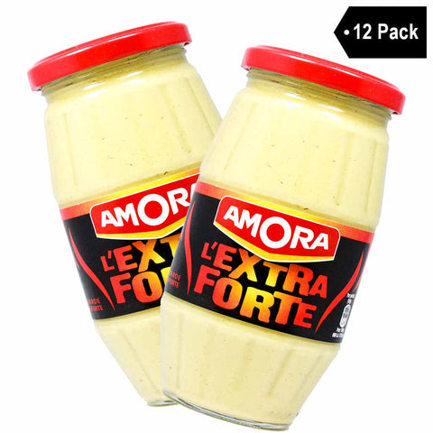 12 Pack Amora French Dijon Mustard Extra Strong