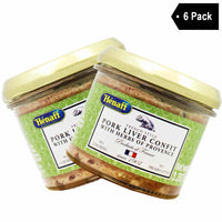 6 Pack Henaff Pork Liver Confit with Herbs of Provence