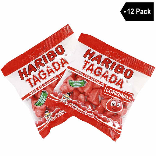12 Pack Haribo French Tagada Strawberry Candy (12 x 4.2 oz)