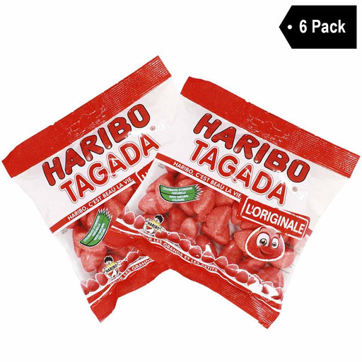 6 Pack Haribo French Tagada Strawberry Candy (6 x 4.2 oz)