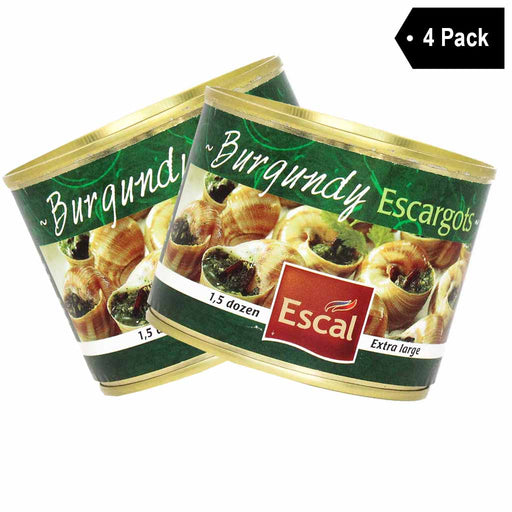 FREE Shipping | 4 Pack Escal French Burgundy Escargots Snails 1.5 Dozen