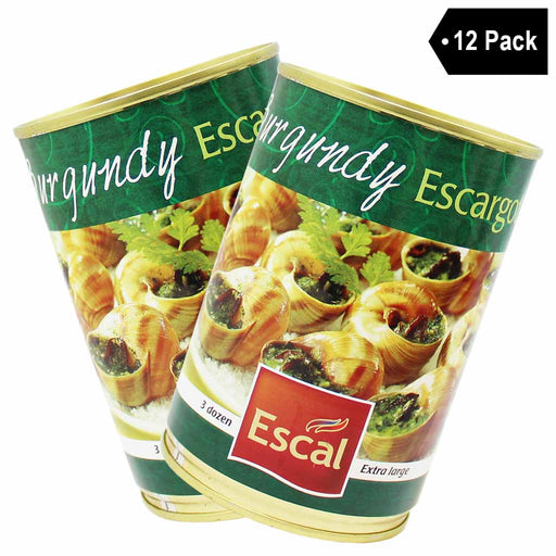 12 Pack Escal Extra Large French Burgundy Escargots 3 Dozen