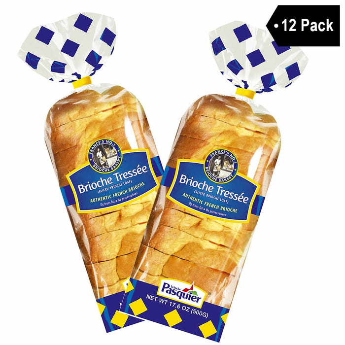 Free Shipping | 12 Pack Brioche Pasquier Authentic French Sliced Brioche