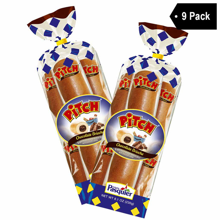 9 Pack Brioche Pasquier 6 Chocolate Pitch