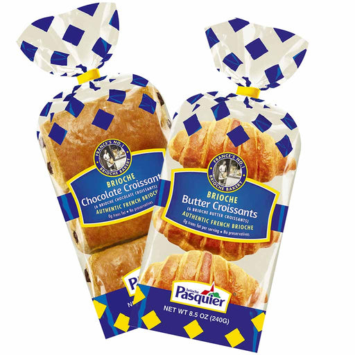 Brioche Pasquier French Butter & Chocolate Croissants Set