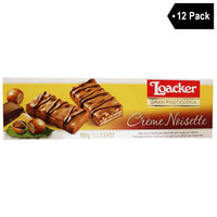 Free Shipping | 12 Pack Loacker Gran Pasticceria Creme Noisette Biscuits