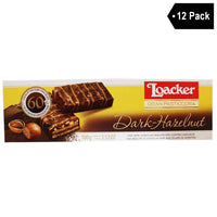 Free Shipping | 12 Pack Loacker Gran Pasticceria Dark Hazelnut Biscuits
