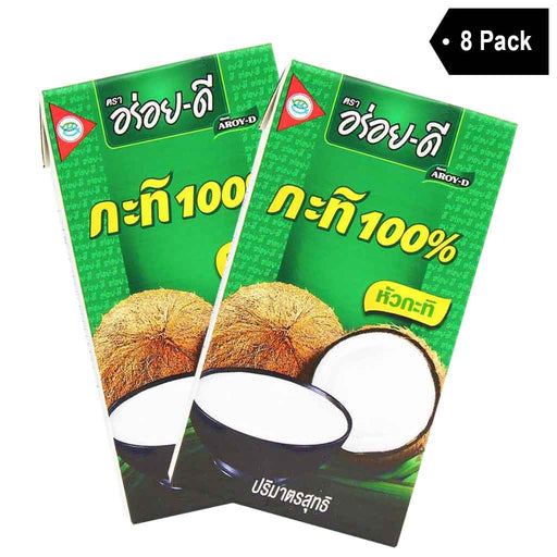 8-Pack Aroy-D Coconut Milk (8.5 fl oz x 8)