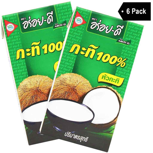 6-Pack Aroy-D Coconut Milk (33.8 fl oz x 6)
