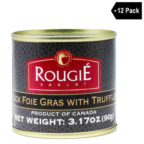 12 Pack Rougie Duck Foie Gras with Truffles
