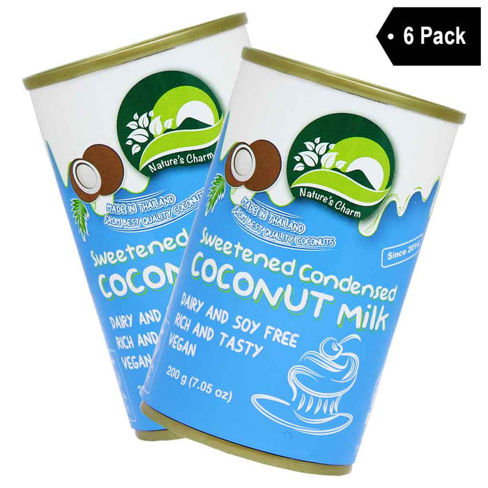 Nature's Charm Sweetened Condensed Coconut Milk (7 oz x 6)