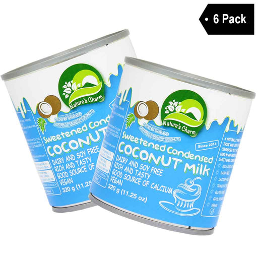 6-Pack Nature's Charm Sweetened Condensed Coconut Milk (11.2 oz x 6)