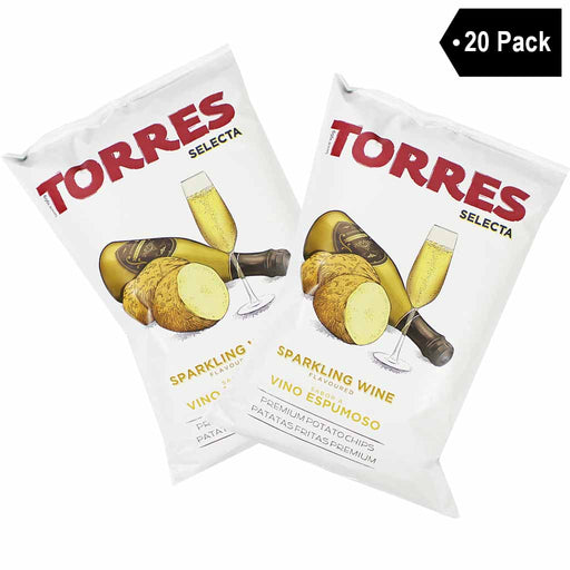 Torres Sparkling Wine Potato Chips, 20 Pack (1.7 oz x 20)