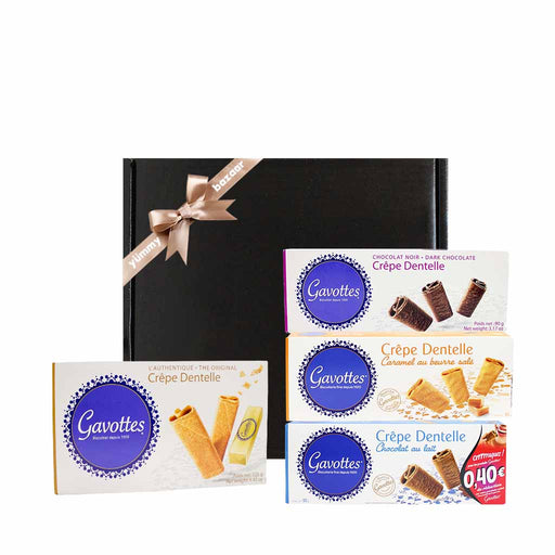Gavottes French Crepe Dentelle Cookies Gourmet Gift