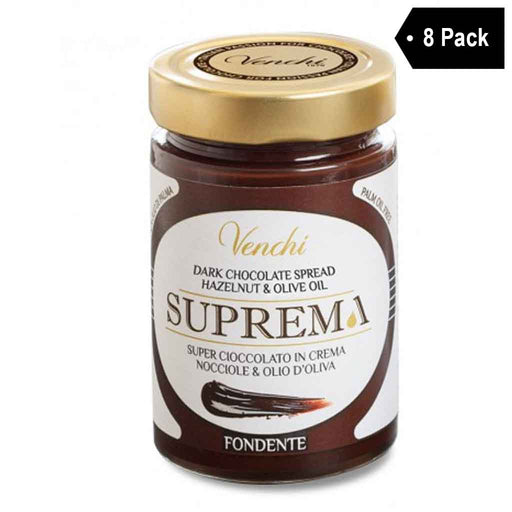 Venchi  Extra Dark Chocolate and Hazelnut Spread 10.5 oz. x 8