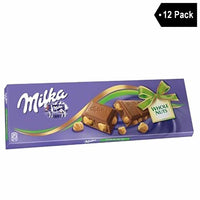12 Pack Milka Milk Chocolate with Whole Hazelnuts (8.8 oz x 12)