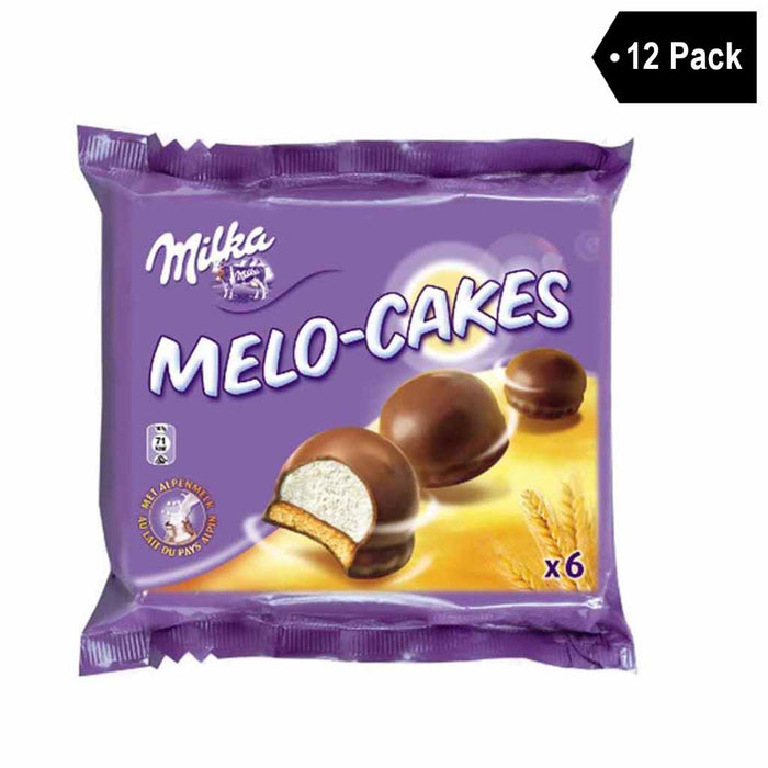 12 Pack Milka Melo Marshmallow Cakes
